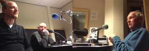 vlnr: Lykle, Ronald en Luchien in de Studio bij SADH