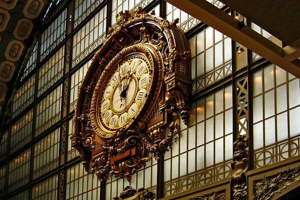 De klok op het Parijse station