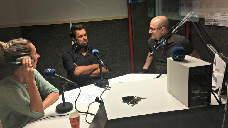 Jeroen Sprangers in de SADH-studio